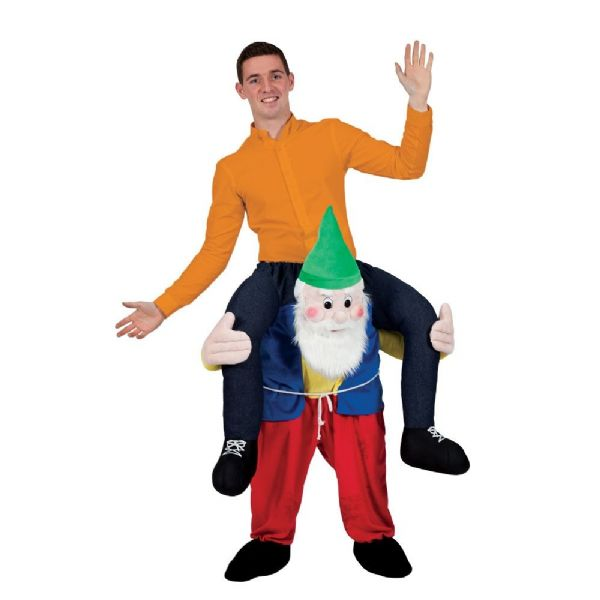 Adults Carry Me Gnome / Dwarf Costume for Garden Elf Dwarf Orc Goblin Fancy Dress